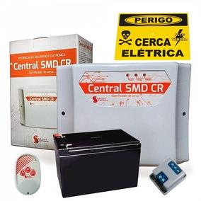 Central Choque Cerca Elétrica Gcp10.000 Smd Cr + Bateria 12v
