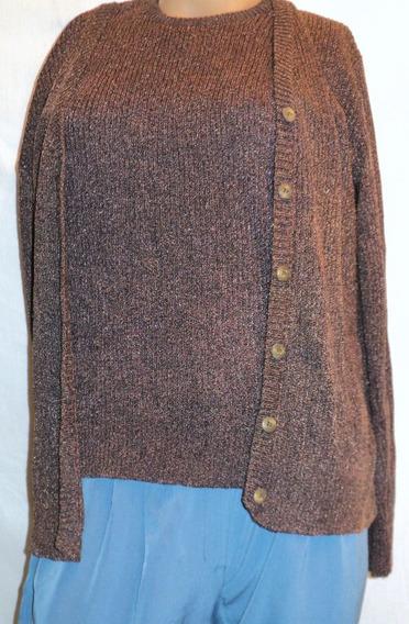 Sweater Y Saquito Botones Conjunto Acrilico Talla 2 Sin Uso