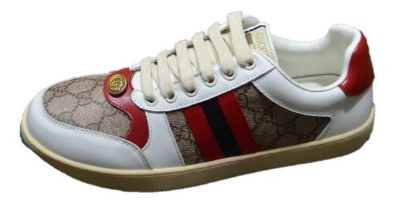 Tenis Sneakers Gucci Rojo + Envío Gratis
