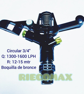 Aspersor De Riego Circular 10-15 Mtr De Radio