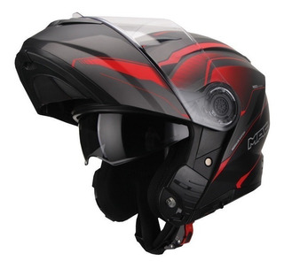 Casco Moto Rebatible Mac Rock Magma Negro Mate Devotobikes
