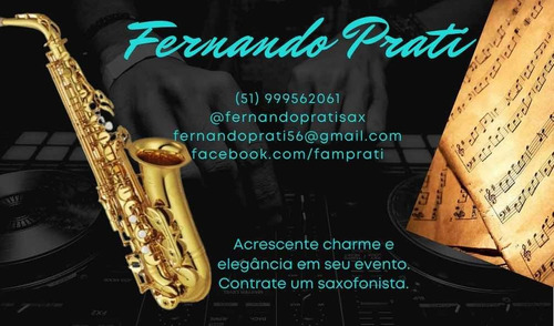 Imagem 1 de 1 de Contrate Um Saxofonista Para O Seu Evento.