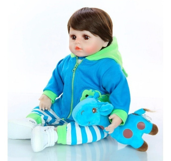 Boneca Bebê Reborn Realista De Silicone+ Girafinha No Brasil