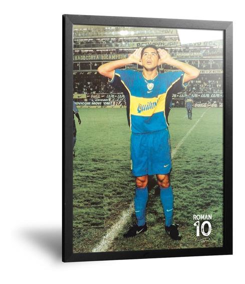 Cuadros Camisetas De Boca Roman Riquelme Topo Gigio 35x50cm