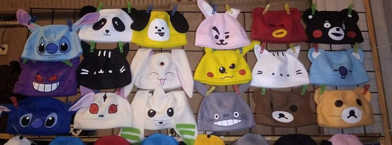 Gorros Polares De Anime -pokemon, Panda, Creeper, Domo, Etc