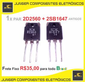 D2560 - B1647 - 2sd2560 2sb1647 D2056 B1647 1x Par Antigo