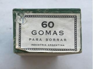 Antigua Caja Con 60 Gomas De Borrar 1940