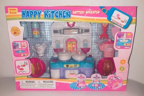 Juego Cocina Happy Kitchen Niñas Importado