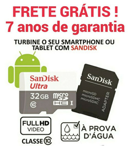 Cartão Memória Sandisk Ultra Micro Sd 32gb 80mb/s Class 10
