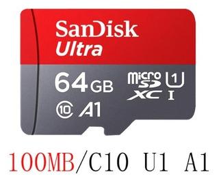 Memoria Clase10 Microsd Sandisk A1 64gb - 100mb/s Original