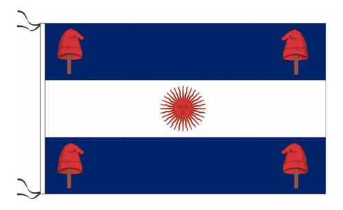 Bandera Confederación Rosista 90 X 150cmrefuerzo Y Sogas