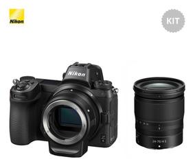 Nikon Z6 Mirrorless Camera E Lente Z 24-70 E Adaptador Ftz