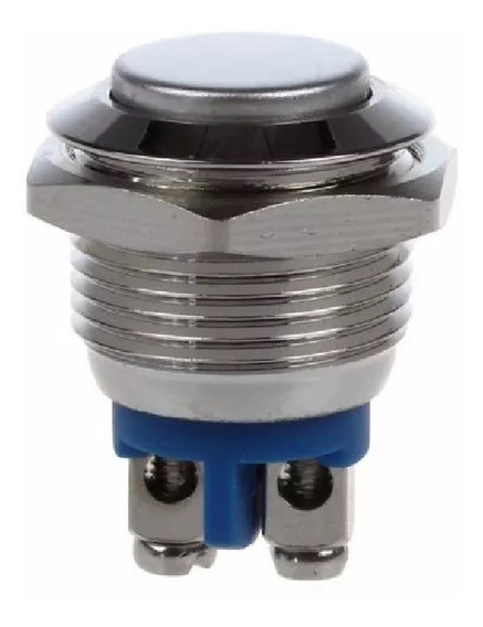 Metal Push Button Reset Switch - 16mm