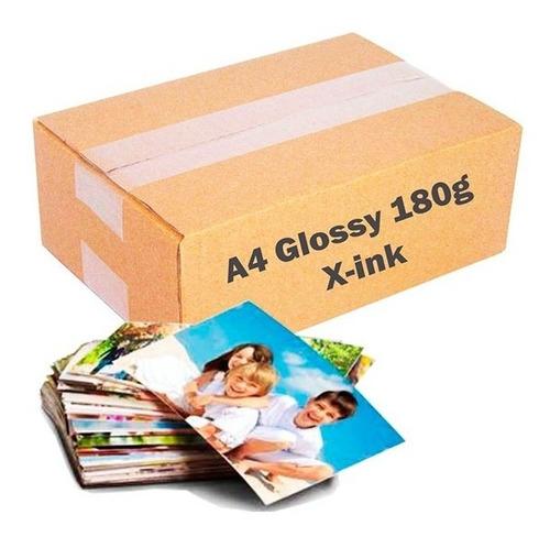 Papel Fotográfico Premium 180g Glossy A4 100 Folhas X-ink