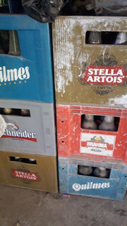Cajones De Cerveza De Litro Con Envases