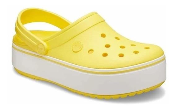 Crocs Plataforma Crocband Sueco Original Amarillo