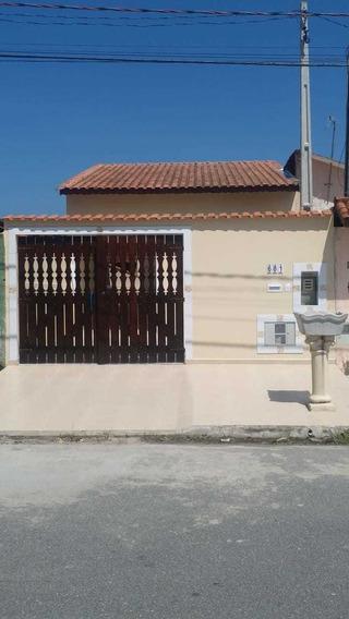 Casa Com 2 Dormitórios Sendo 1 Suíte Na Praia De Itanhaém/sp