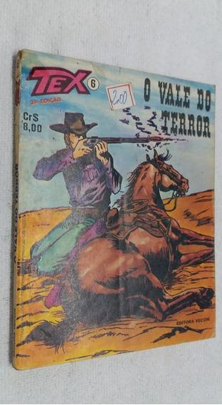 Tex Nº 6, O Vale Do Terror Editora Vecchi, 2ª Edição