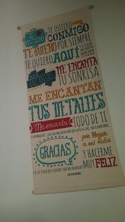 Banner Te Quiero, Lona