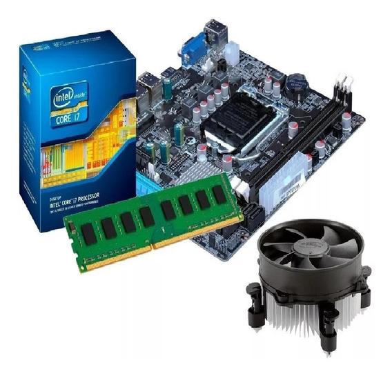 Kit Processador I7 2600 3.8 Ghz + Placa Mãe H61 + 8gb Ddr3