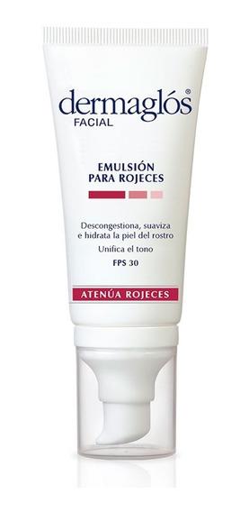 Dermaglós Facial Emulsión Para Rojeces Fps30 Hidratante Descongestiona Pieles Con Rosácea