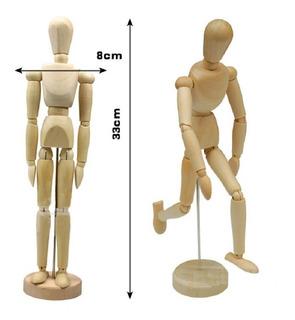 Maniqui Articulado De Madera Figura Humana 33 Cm Para Dibujo