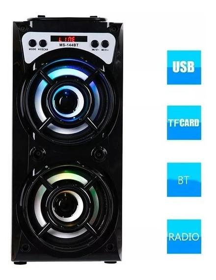 Caixa Som Amplificada Portatil Mp3 Mp4 Pc Usb Bluetooth