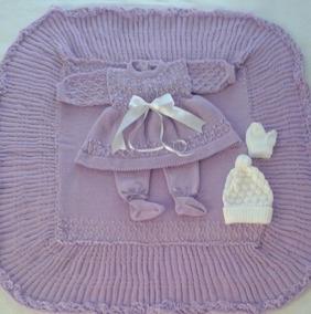 Saída Maternidade Batizado Manta Vestido Calça Bebê Ref.160