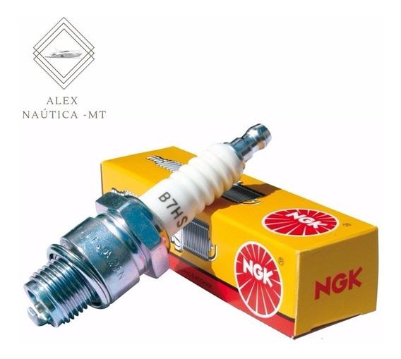 Vela Original Ngk B7hs Motor Popa Mercury Yamaha 5 8 15 25hp
