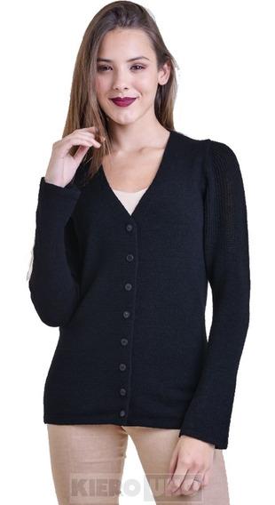 Cárdigan Escote V Mujer Con Botones Saco - Sweater -kierouno