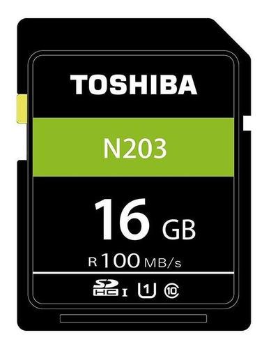 Cartão De Memória Sdhc 16gb 100mb/s Uhs-i Toshiba 4un