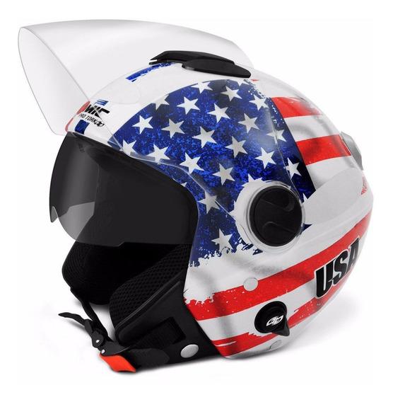 Capacete De Moto Pro Tork Bandeira Estados Unidos