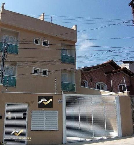 Cobertura À Venda, 96 M² Por R$ 385.000,00 - Vila Cecília Maria - Santo André/sp - Co1090