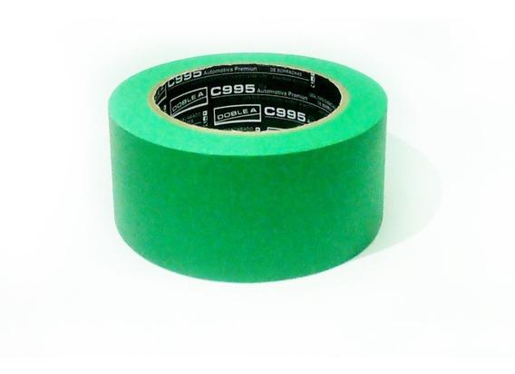 Cinta De Enmascarar Doble A 48mm Pintor Autos Verde Premium