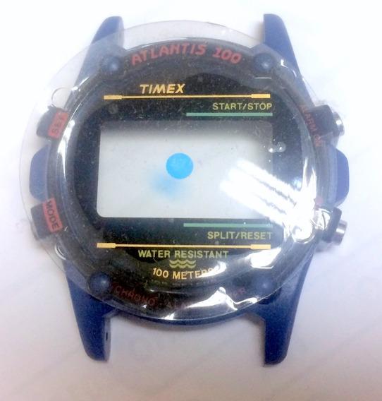 Caixa Nova Relógio Timex Atlantis Azul Rara