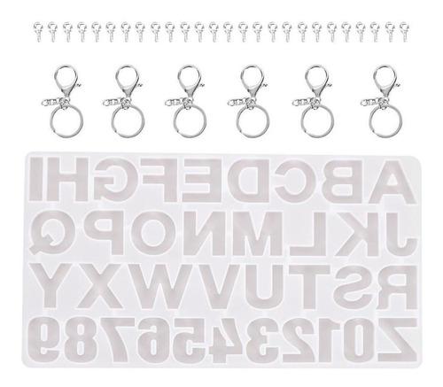 Imagen 1 de 9 de Moldes De Resina Alfabeto Bavard Letra Número Molde De Sili