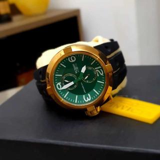 Relógio Invicta Force Verde Pulseira De Silicone.. Mod 14180