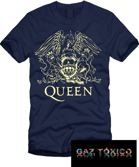 Playera Queen Banda De Rock Manga Corta