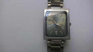 Reloj Crown Rectangular Malla De Acero Nuevo