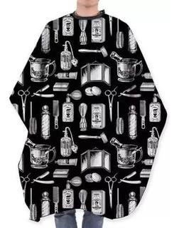 Capa Diseños Negra Peluquería Barbero Unisex