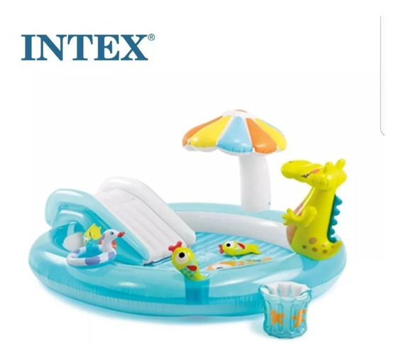 Piscina Intex Playground Escorregador 57129 + Inflador