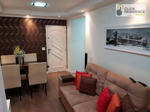 Imagem 1 de 13 de Apartamento 2 Dormitórios ( 3 Andares Com Elevador ) À Venda De 60,00 M² Por R$ 300.000 - Santa Terezinha - São Bernardo Do Campo/sp - Ap0742