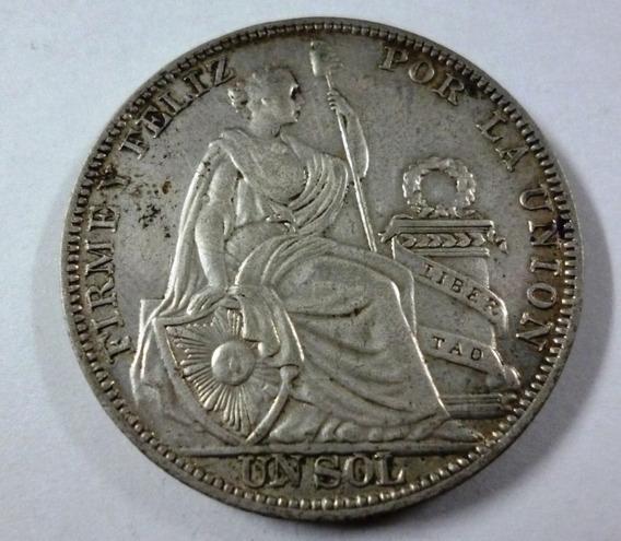 Peru Moneda 1 Sol 1934 Xf Km 218.2 Plata