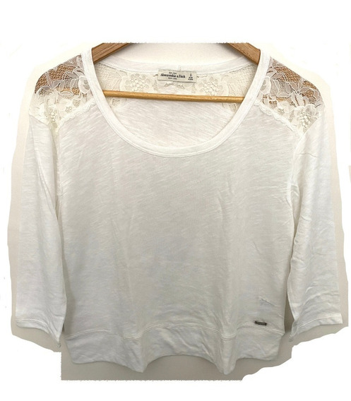 Remera Abercrombie & Fitch Talle S Blanca