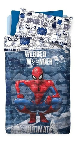 Cubrecama Piñata Spiderman 1 1/2 Plaza Funda Cover Reversibl