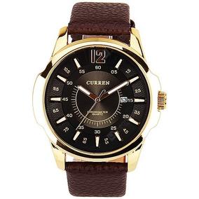 Relógio Curren Original, Couro Sintético Em Perfeito Estado