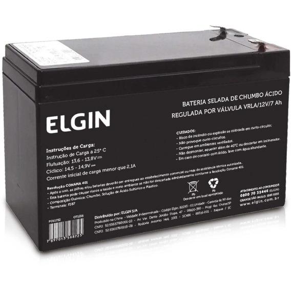 Bateria Para No-breaks Selada De Chumbo Acido 12v 7ah Elgin