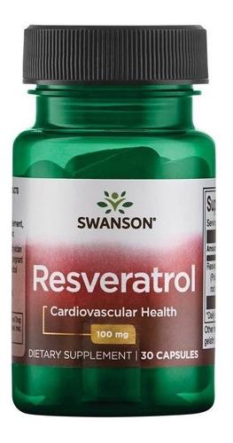 Antioxidante, Cardiovascular, Resveratrol 30caps De 100mg