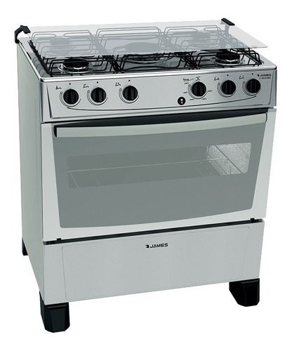 Cocina Supergas Inox James 5 Hornallas C 150 B Yanett