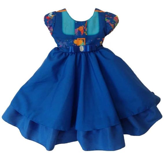 Vestido Da Chiquititas Bebê Uniforme Com Tiara E Strass